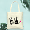 Funky Heart Bride Wedding Tote Bag