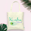 Personalized Feather Bridal Party Wedding Tote