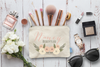 Floral Personalized Bridal Party Makeup Cosmetic Bag