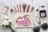 Girl You're Beauitful Bridal Party Makeup Cosmetic Bag
