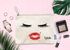 Glam Lashes + Lips Personalized Bridal Party Makeup Cosmetic Bag