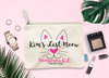 Last Meow Personalized Cat Bachelorette Party Makeup Bag