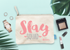 Slay Squad Personalized Bachelorette Party Makeup Cosmetic Bag