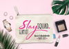 Slay Squad Glam Kit Personalized Bachelorette Party Makeup Bag