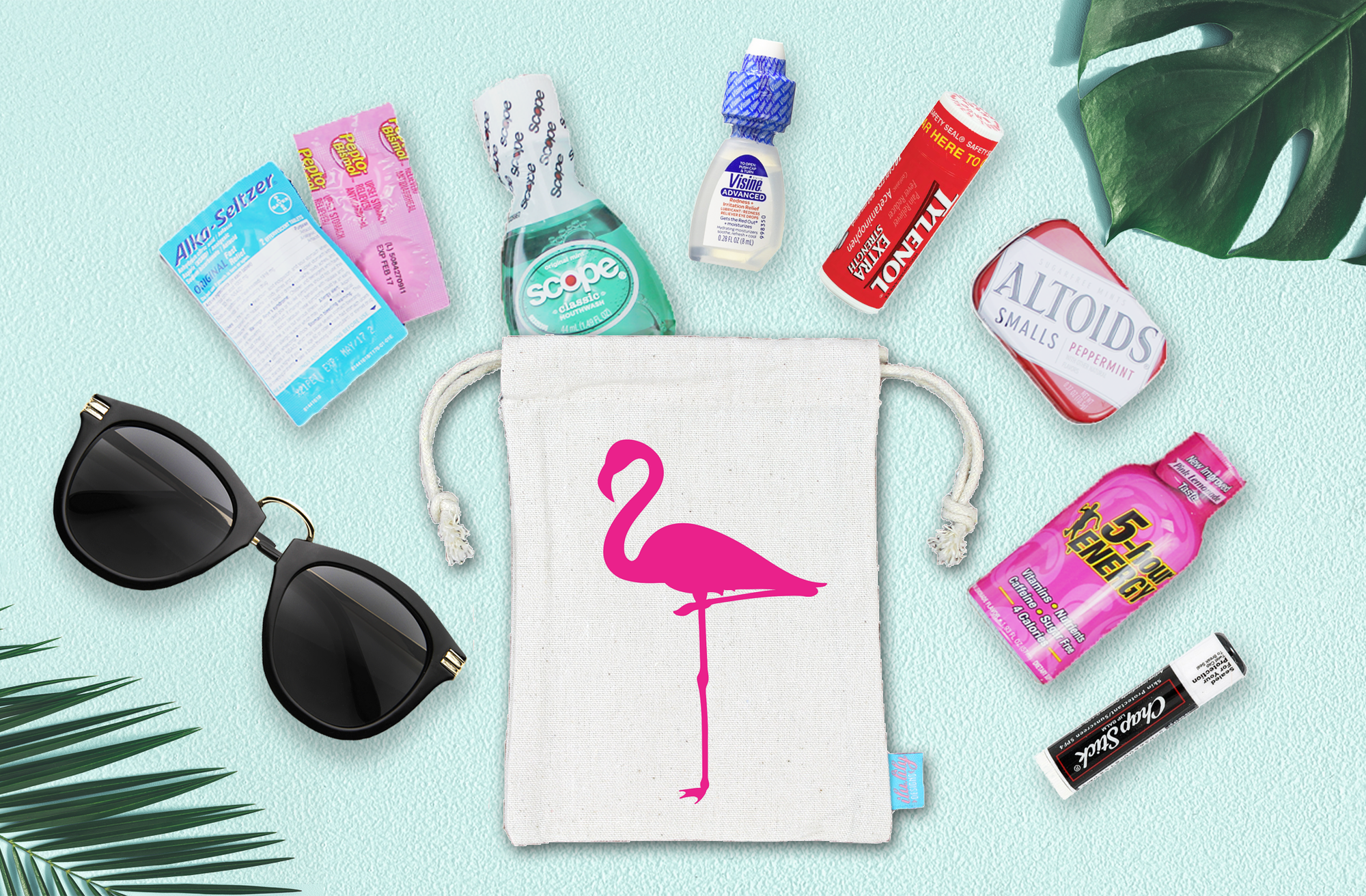 Flamingo Bachelorette Wedding Favor Bag