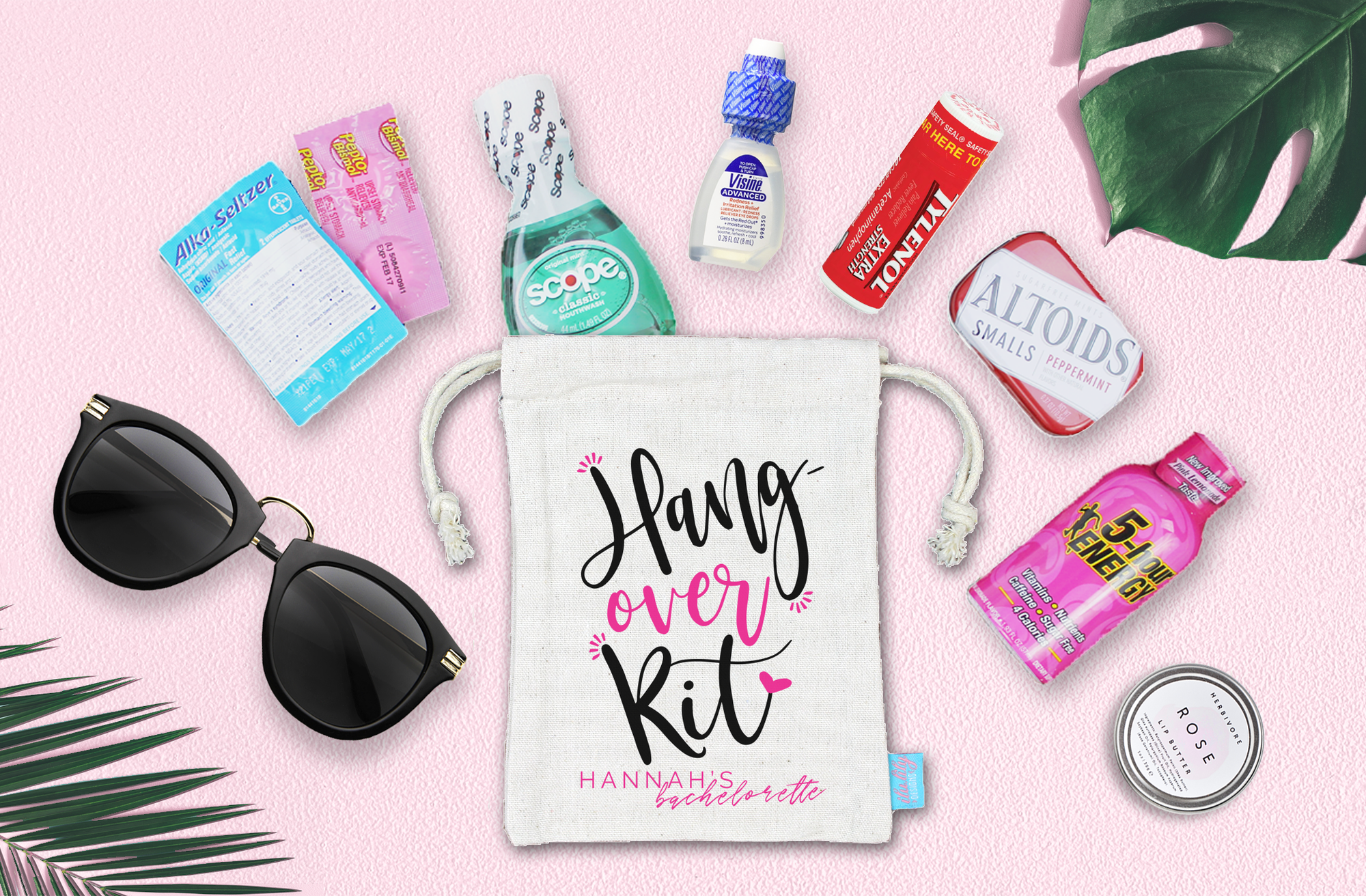 Hangover Kit Bachelorette Hangover Favor Bag