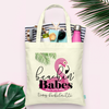 Beachin Babes Brides Babes Flamingo Bachelorette Party Totes