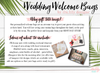 Floral Monogram -Wedding Welcome Tote Bag