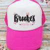 Floral Personalized Funky Bachelorette Party Trucker Hat