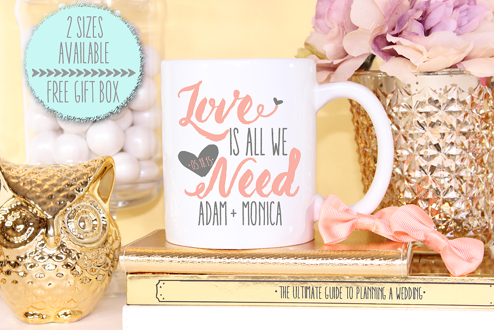 Personalized Love Is All We Need Wedding Mug