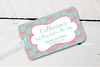 Palm Trees Destination Wedding Luggage Tag