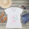 I Said Yes Engagement Ring V-Neck T-Shirt Fashion Tee