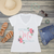 Floral Future Mrs Personalized V-Neck T-Shirt Fashion Tee