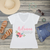 Floral Bridesmaid Personalized V-Neck T-Shirt Fashion Tee