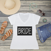 Bride Block V-Neck T-Shirt Fashion Tee