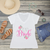 Floral Team Bride V-Neck T-Shirt Fashion Tee