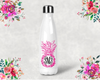 Pineapple Monogram Bridal Party Water Bottle -Swell Style Water Bottle