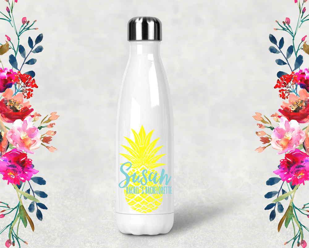 Personalized Pineapple Bachelorette Party Water Bottle -Swell Style Water Bottle