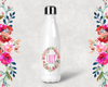 Personalized Floral Wreath Bridal Party Water Bottle -Swell Style Water Bottle