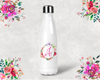 Floral Initial Personalized Bridal Party Water Bottle -Swell Style Water Bottle