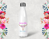 Boho Skull Personalized Bridal Party Water Bottle -Swell Style Water Bottle