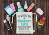 Bachelor Party Hangover Recovery Kit - Bachelor Groomsmen Favor -  Whiskey Recovery Kit