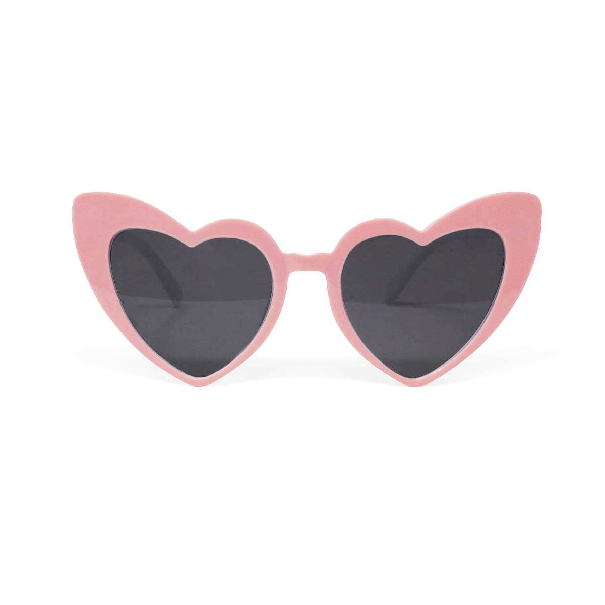 Retro Heart Shaped Sunglasses - Pink