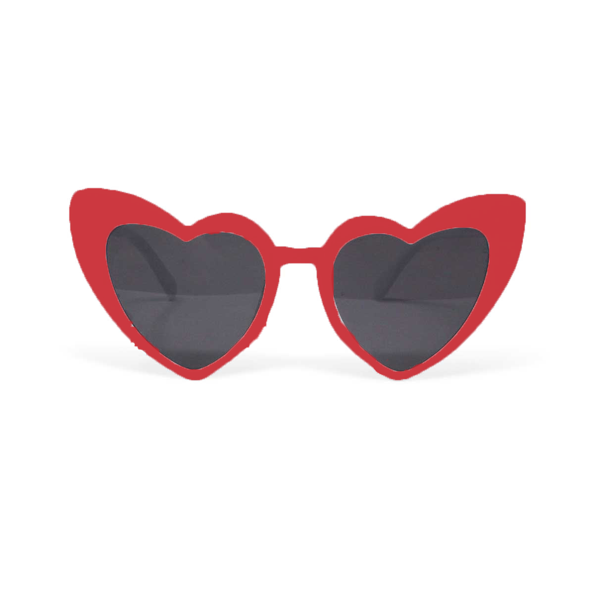 Retro Heart Shaped Sunglasses - Red