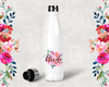 Floral Bride Personalized Party Water Bottle -Swell Style Water Bottle