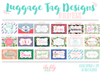 Monogram Bridal Party Wedding Luggage Tag