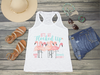 Lets Get Flocked Up Bachelorette Party Racerback Tank Top