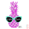 Hola Beaches Personalized Pineapple Bridal Party Water Bottle -Swell Style Water Bottle