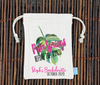 Palm Springs Before the Rings Tropical Palm Leaf Favor Bag