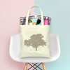 Modern Wedding Tree Personalized Wedding Welcome Tote Bag