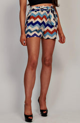 Zig Zag High Waisted Shorts