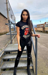 Black Rolling Stones 1978 Tour T-Shirt