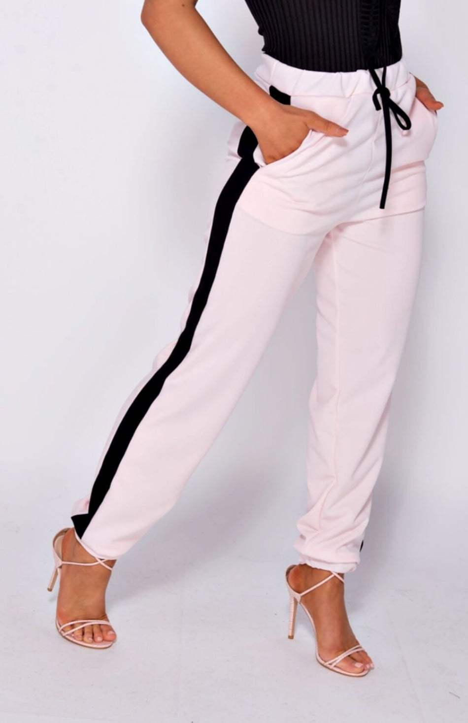 Pink Side Stripe Joggers