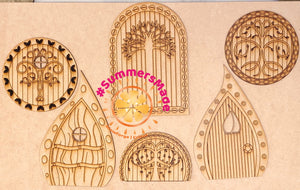 V4 - 6 Wooden Fairy Doors Volume Four - 6 Fairy Doors to decorate