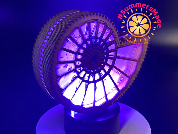 Fibonacci Lamp - MultiColor Acrylic Lamp - USB or AA Battery