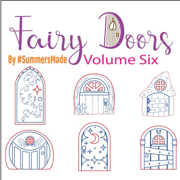 V6 - 6 Wooden Fairy Doors Volume Five - 6 Fairy Doors to decorate