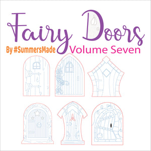 V7 - 6 Wooden Fairy Doors Volume Five - 6 Fairy Doors to decorate