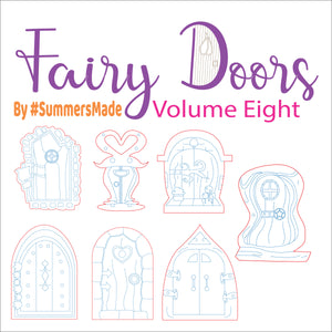 V8 - 6 Wooden Fairy Doors Volume Five - 6 Fairy Doors to decorate