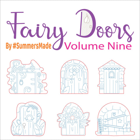 V9 - 6 Wooden Fairy Doors Volume Five - 6 Fairy Doors to decorate