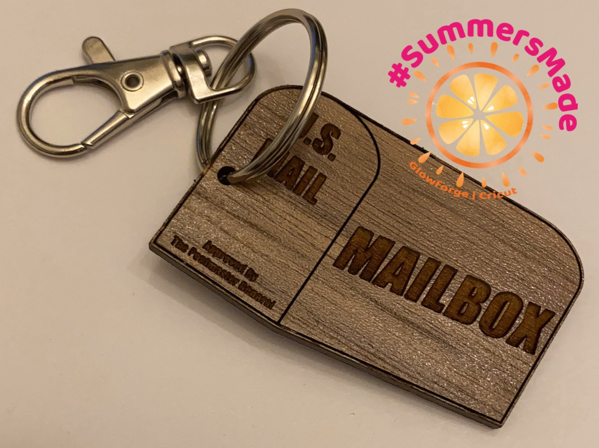 Mailbox Keychain - Key fob, Keyring, keychain - Never lose your Mail box key again