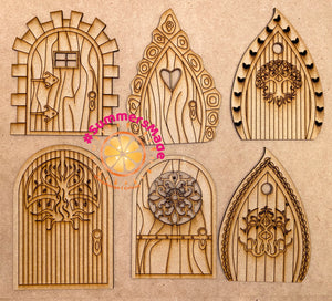 V3 - 6 Wooden Fairy Doors Volume Three - 6 Fairy Doors to decorate