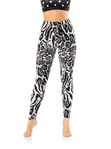 BYANCA Tight Leggings - Black & White Stripes Decorations
