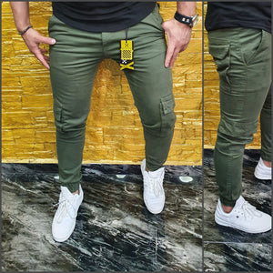 SHUHABAA Fabric Jeans for Men - Dark Green