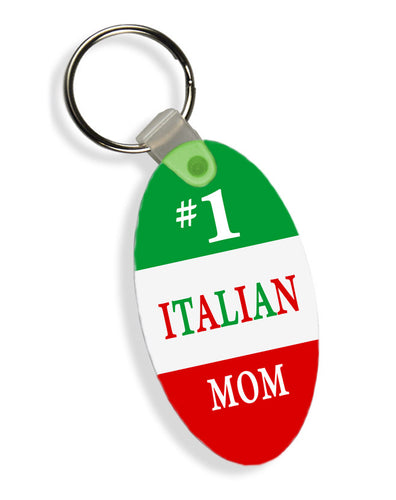 #1 Mom Italian Flag Keychain - Guidogear