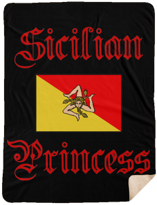 Sicilian Princess Black Blanket Sherpa Blanket - 60x80 - Guidogear