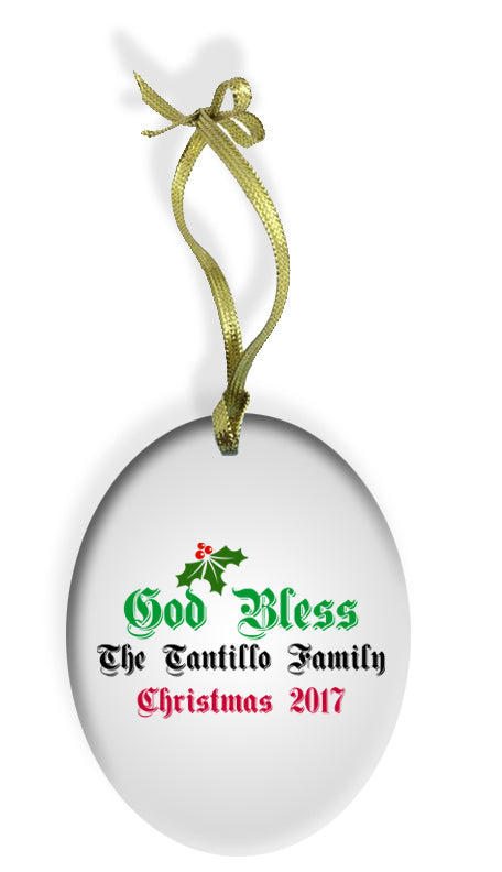 God Bless Our Italian Home Holiday Color Glass Christmas Ornament - Guidogear